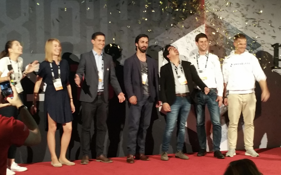 We are the top mobility startup at Pioneers'18!